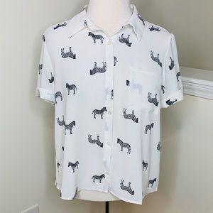 🎉5 for $25🎉 Zebra Print Blouse